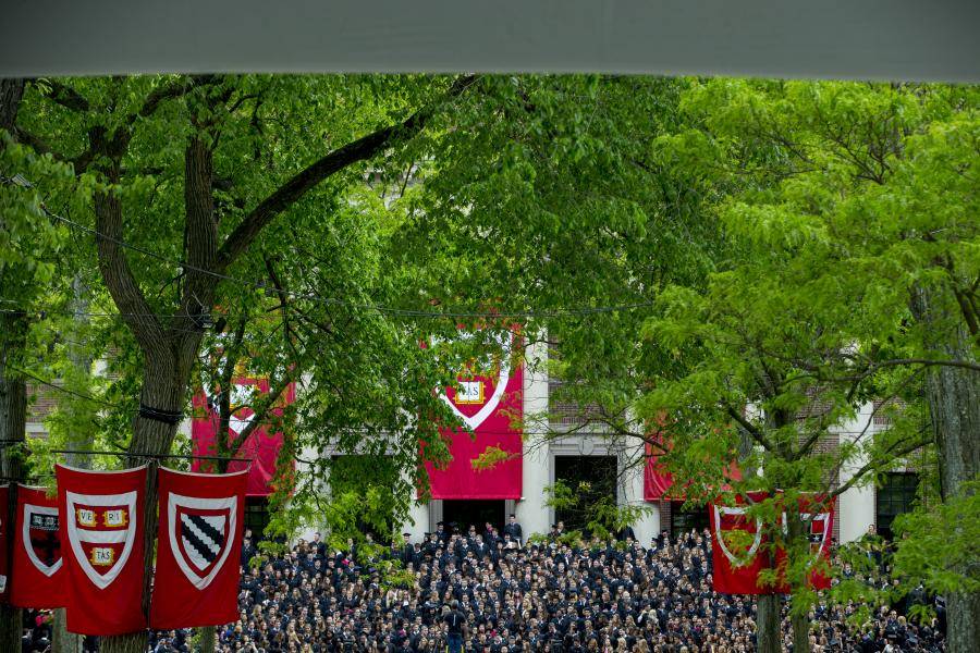 graduating class at Harvard ivy league