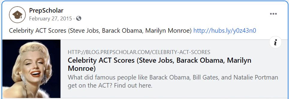 false representation of celebrity act scores