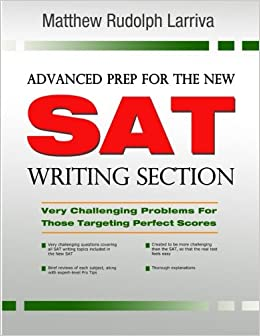 advanced prep for the new sat writing section text book cover