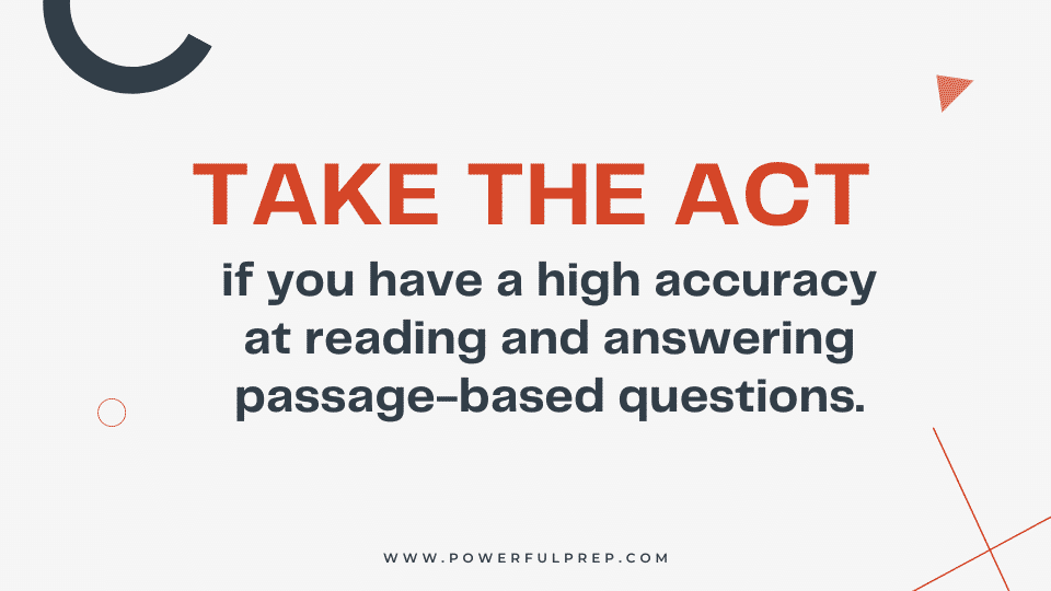 take act for more passage based questions