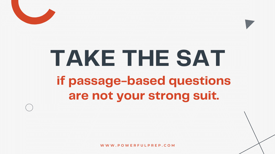 take sat for fewer passage based questions