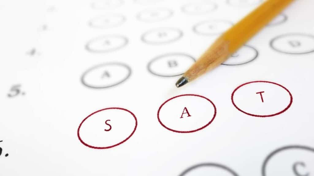 sat test and pencil